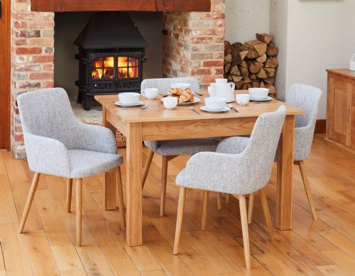 Mobel Oak Small Dining Table and Chair Sets